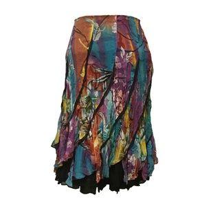 New ALBERTO MAKALI bright crinkle skirt mesh 10